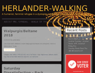 herlanderwalking.wordpress.com screenshot