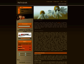hermanek-lecivy.webnode.cz screenshot