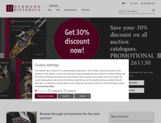 hermann-historica.com screenshot