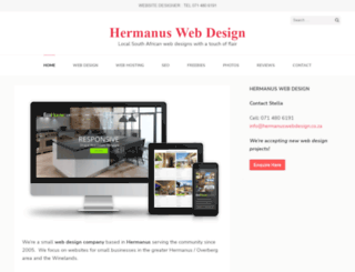 hermanuswebdesign.co.za screenshot