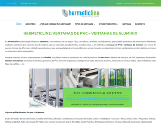 hermeticline.es screenshot