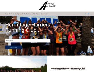 hermitageharriers.co.uk screenshot