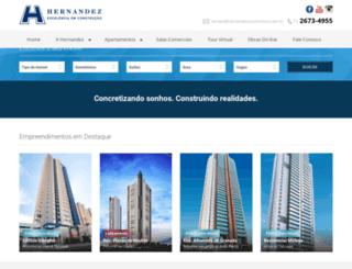 hernandezconstrutora.com.br screenshot