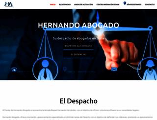 hernandoabogadosoria.es screenshot