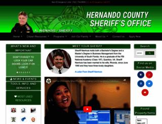 hernandosheriff.org screenshot