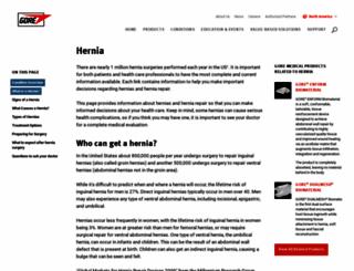 hernia.goremedical.com screenshot