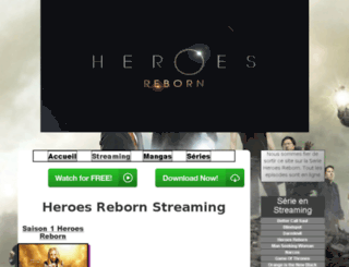 heroes-reborn-streaming.fr screenshot