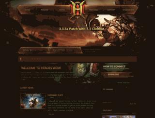 heroes-wow.com screenshot