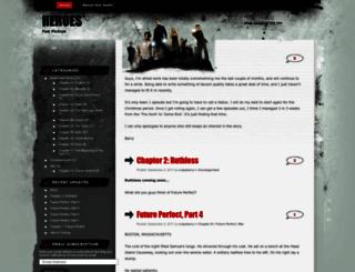 heroesfanfic.wordpress.com screenshot