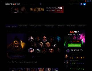 heroesfire.com screenshot