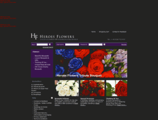 heroesflowers.com screenshot