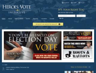 heroesvote.org screenshot