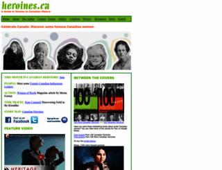 heroines.ca screenshot