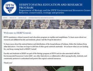 herpcenter.ipfw.edu screenshot