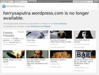 herrysaputra.wordpress.com screenshot