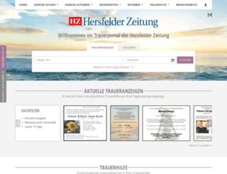 hersfelder-zeitung.trauer.de screenshot