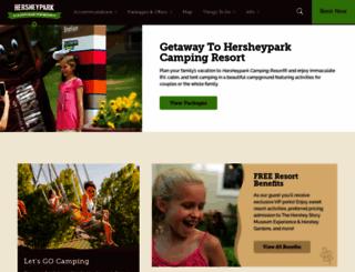 hersheycamping.com screenshot