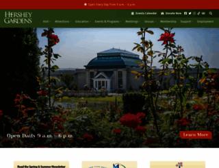 hersheygardens.org screenshot