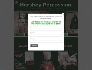 hersheypercussion.com screenshot