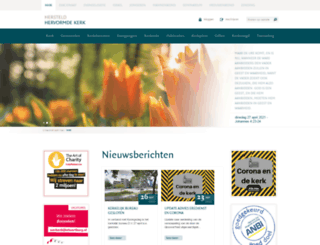 hersteldhervormdekerk.nl screenshot
