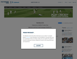 hertford.play-cricket.com screenshot