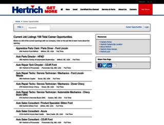 hertrichcareers.iapplicants.com screenshot