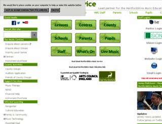 hertsmusicservice.squarespace.com screenshot