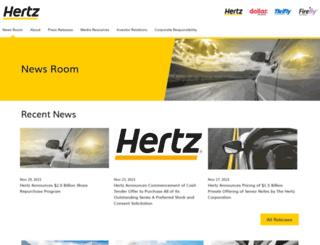 hertz.mediaroom.com screenshot