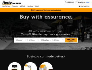 hertzcarsales.com screenshot