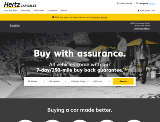 hertzcarsalesseattle.com screenshot