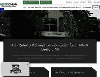 hertzschram.com screenshot