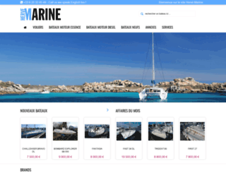 hervemarine.com screenshot