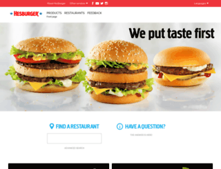 hesburger.com screenshot