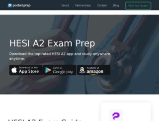 hesi.pocket-prep.com screenshot
