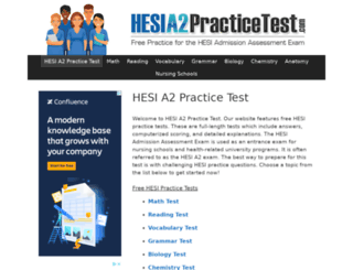 hesia2practicetest.com screenshot