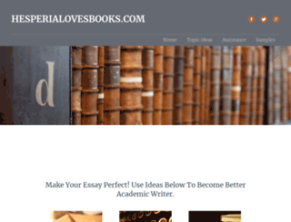 hesperialovesbooks.com screenshot