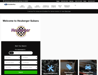 heubergermotors.com screenshot