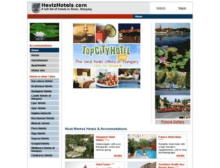 hevizhotels.com screenshot