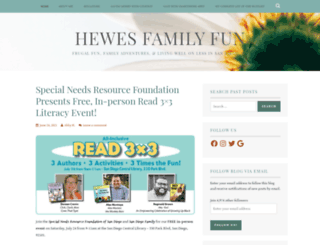 hewesfamilyfun.wordpress.com screenshot
