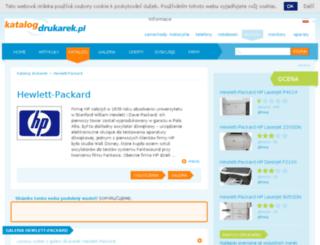hewlett-packard.katalog-drukarek.pl screenshot