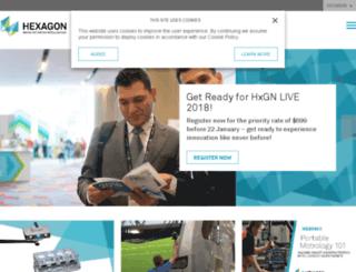 hexagonmetrology.com screenshot