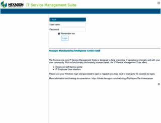 hexagonmetrology.service-now.com screenshot