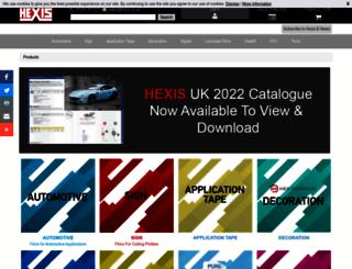 hexis.co.uk screenshot
