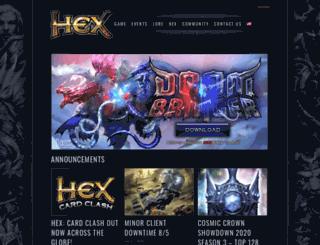 hextcg.com screenshot