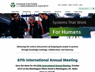 hfes.org screenshot