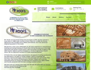 hfroofs.co.za screenshot