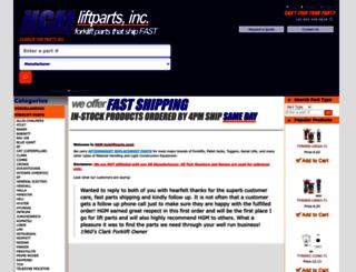 hgmforkliftparts.com screenshot