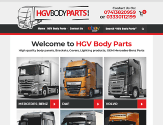 hgvbodyparts.co.uk screenshot
