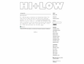 hi-and-low.typepad.com screenshot