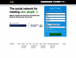 hi5.com screenshot